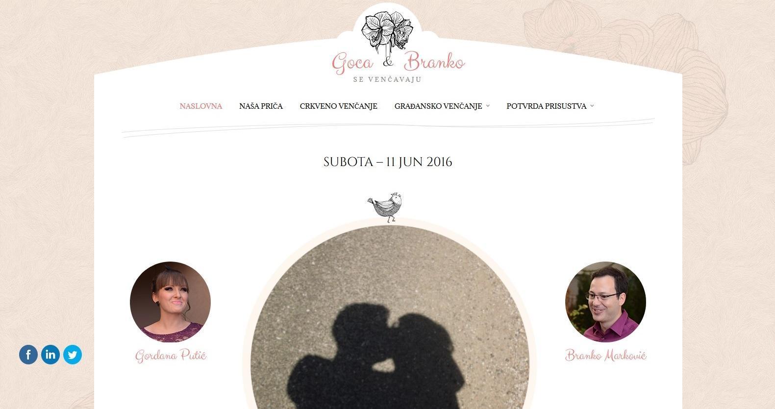 Izrada sajta za venčanje